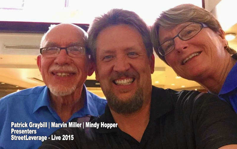 StreetLeverage - Live 2015 Presenters Patrick Graybill, Marvin Miller and Mindy Hopper