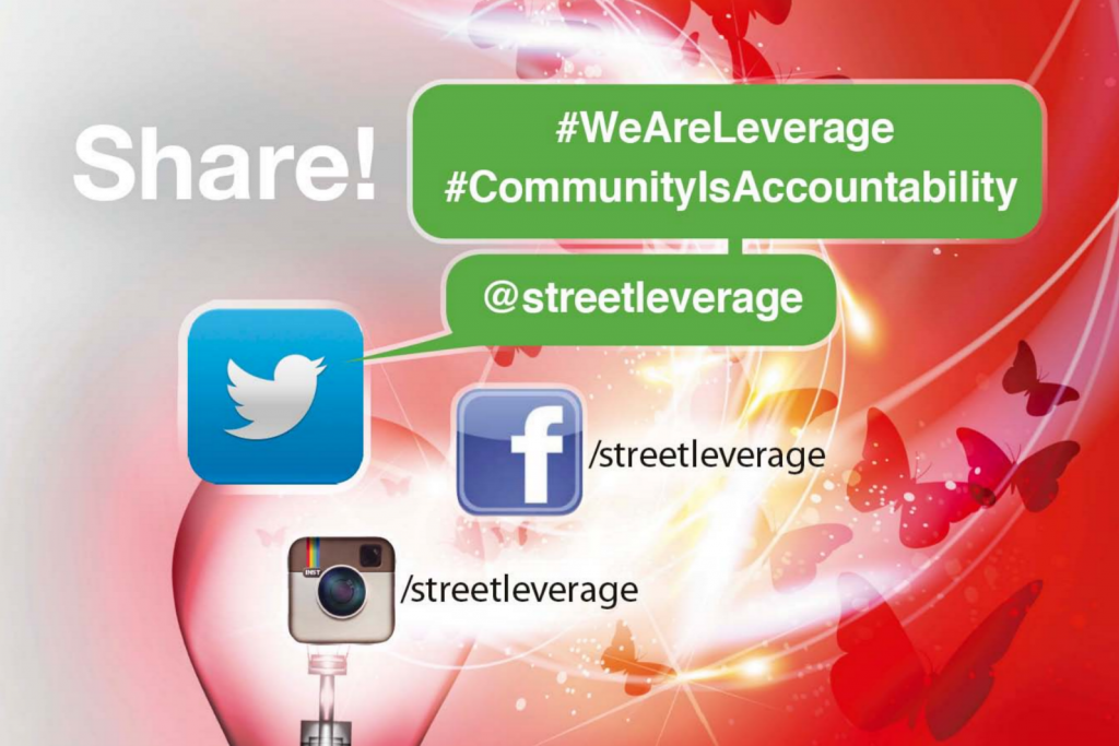 Share StreetLeverage - Live via Social Media